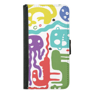 Colorful Monsters Samsung Galaxy S5 Wallet Case