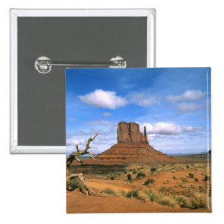 Colorful Monument Valley Mittens in Utah USA 2 Inch Square Button