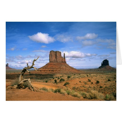 Colorful Monument Valley Mittens in Utah USA Greeting Card