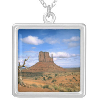 Colorful Monument Valley Mittens in Utah USA Square Pendant Necklace