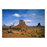 Colorful Monument Valley Mittens in Utah USA Poster