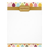 Colorful Moroccan Quatrefoil Custom Letterhead