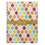 Colorful Moroccan Quatrefoil Custom Notebook at Zazzle