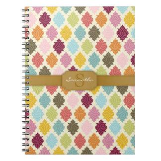 Colorful Moroccan Quatrefoil Custom Notebook