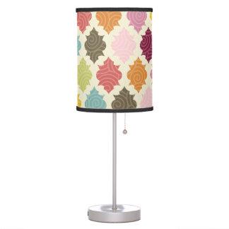 Colorful Moroccan Quatrefoil Decorative Lamp Table Lamps