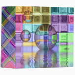 Colorful Mosaic Art Vinyl Binder
