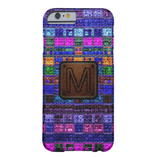 Colorful Mosaic Burlap Elegant Leather Look #11 Barely There iPhone 6 Case