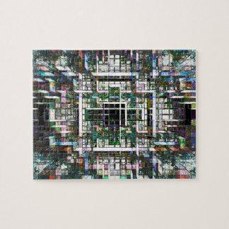 Colorful Mosaic Cubes Puzzle