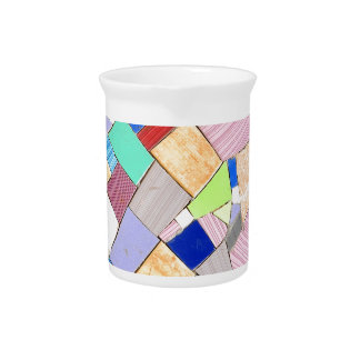 Colorful mosaic drink pitcher