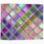 Colorful Mosaic Glass Art 3 Ring Binders