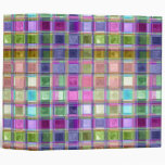 Colorful Mosaic Glass Art Binder