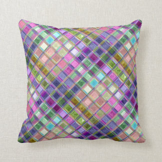 Colorful Mosaic Glass Art Pillows