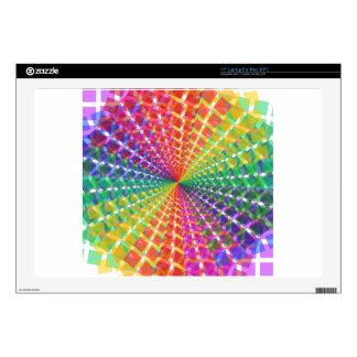 Colorful mosaic laptop skin