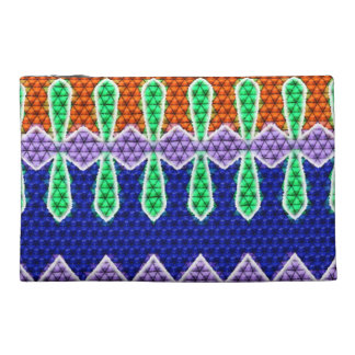 Colorful mosaic pattern travel accessory bag