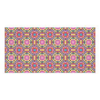Colorful mosaic pattern card