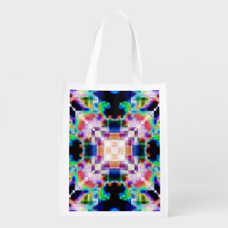 Colorful Mosaic Pattern Reusable Grocery Bag