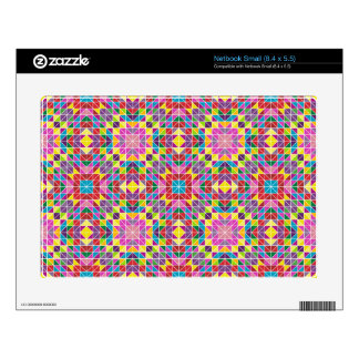 Colorful mosaic pattern netbook decals
