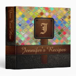 Colorful Mosaic Recipe Leather Look #8 Binders