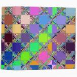 Colorful Mosaic Tile Art Binders