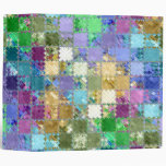 Colorful Mosaic Tile Art Vinyl Binder