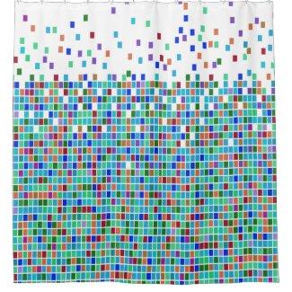 Colorful Mosaic Tile Design Shower Curtain