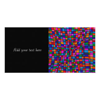 Colorful Mosaic Tiles Pattern Photo Greeting Card