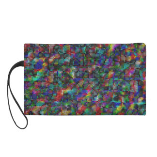 Colorful mosaic! wristlet purse