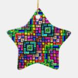 colorful mosaics christmas ornaments