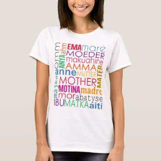 Colorful mother in many languages T-Shirt