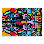Colorful Motif Pattern Blank Card