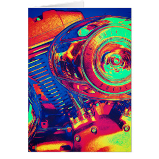 Colorful Motorcycle Engine Card