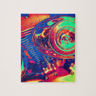 Colorful Motorcycle Engine Jigsaw Puzzle