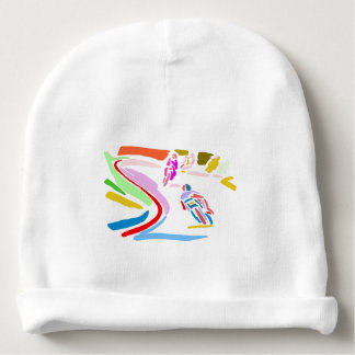 Colorful Motorcycle Race Baby Beanie