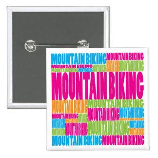 Colorful Mountain Biking Button