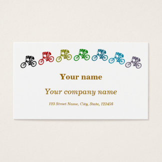 Colorful mountainbikes business card