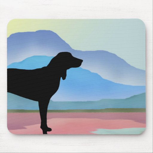 Colorful Mountains Coonhound (without text) Mouse Pad