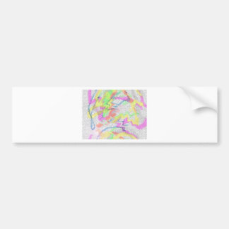colorful movement of water bumper sticker