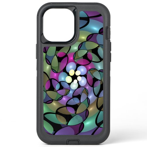 Colorful Movements Abstract Striking Fractal Art OtterBox Defender iPhone 12 Pro Max Case