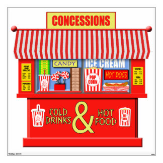 Colorful Movie Concessions Stand Wall Decal
