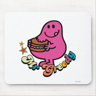 Colorful Mr. Greedy Eating Mouse Pad