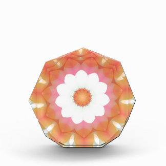 Colorful Multi-layered Flower Kaleidoscope Acrylic Award