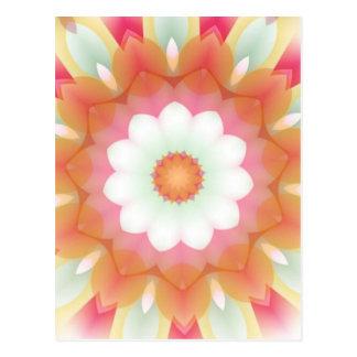 Colorful Multi-layered Flower Kaleidoscope Postcard