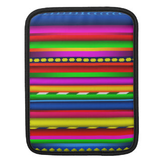 Colorful Multicolor Aztec Mayan Andes Pattern iPad Sleeve