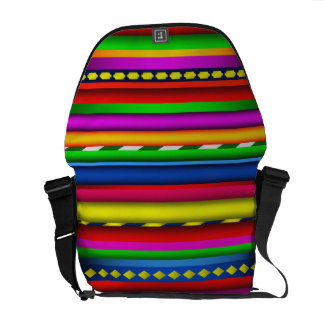 Colorful Multicolor Aztec Mayan Andes Pattern Courier Bags