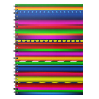 Colorful Multicolor Aztec Mayan Andes Pattern Spiral Notebook