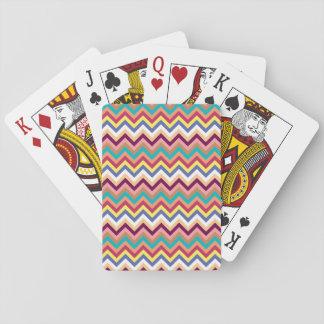 Colorful Multicolor Chevron Pattern Card Decks