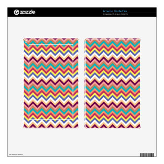 Colorful Multicolor Chevron Pattern Skin For Kindle Fire