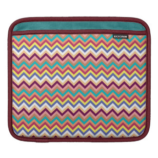 Colorful Multicolor Chevron Pattern Sleeve For iPads