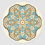 Colorful multicolor medallions round stickers