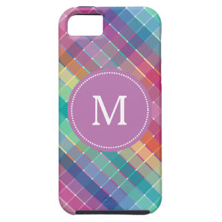 Colorful Multicolor Rainbow Crosshatch iPhone SE/5/5s Case
